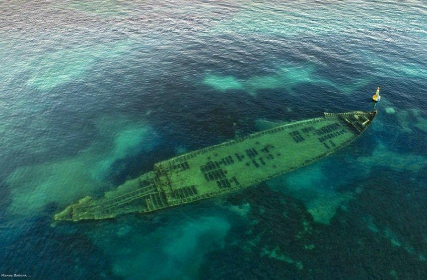 PHOTOS + VIDEO: Το ναυάγιο που αποκαλύφθηκε από το πουθενά στη Λεμεσό!