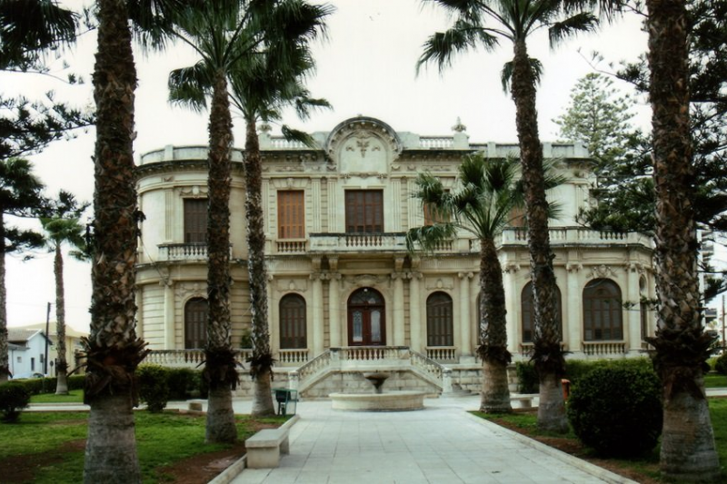 The front of the mansion.
