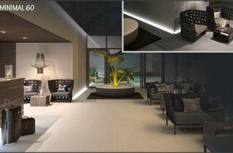 Minimal Lux 60. Rectified porcelain floor tile, suitable for interior spaces.