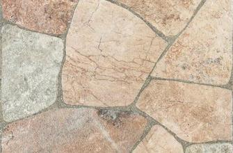 Elba Rodeno 44x44. Porcelain floor tile with stone look design and mat finish. Ideal for exterior spaces.