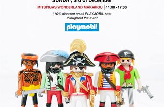 MITSINGAS WONDERLAND Toy Shop on Makarios' Av. - take photos with our large PLAYMOBIL figures and play with PLAYMOBIL on our play tables - 10% discount on all PLAYMOBIL