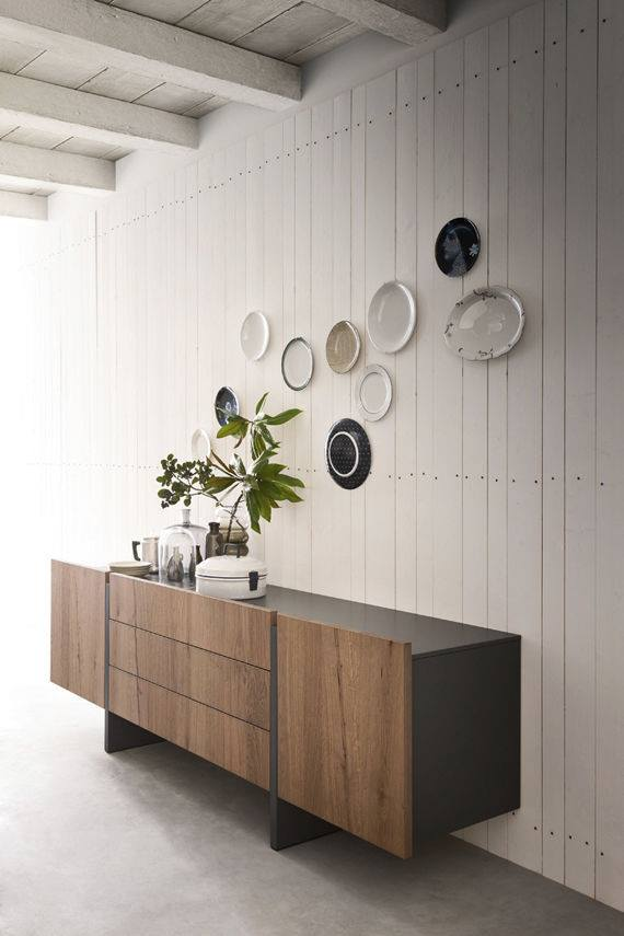 Contemporary wooden sideboard!