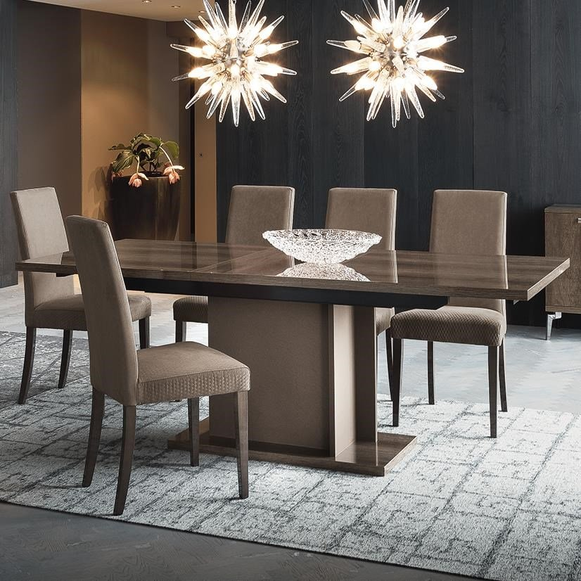 Contemporary style dining table, now in store!