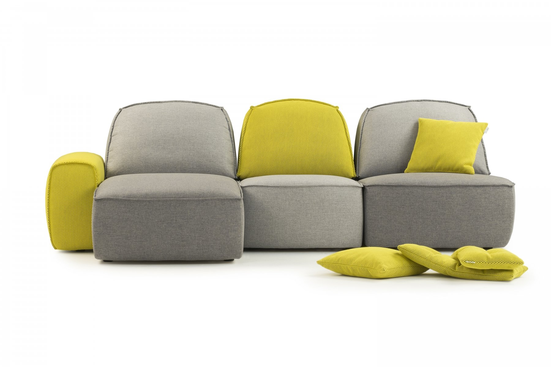 Lazy is a soft-shaped, cozy sofa which can create multiple combinations
