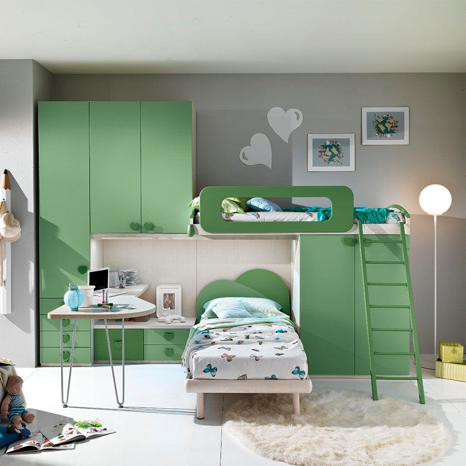 Unique offer!!! Modern bedroom for girls - last item! From €5470 now €1900! Dimensions L.350xH.259xP.58/92