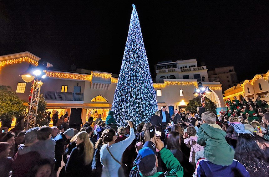 Christmas on the sea with the tallest tree in Limassol!