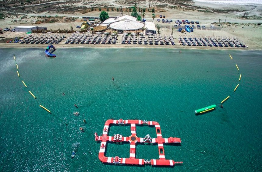 PHOTOS + VIDEOS: An amazing waterpark in the sea, in western Limassol!
