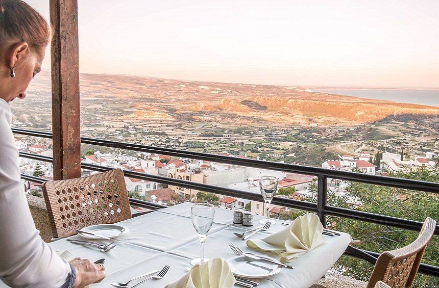 Hill View Restaurant: A restaurant with stunning panoramic views, in a Limassol village!