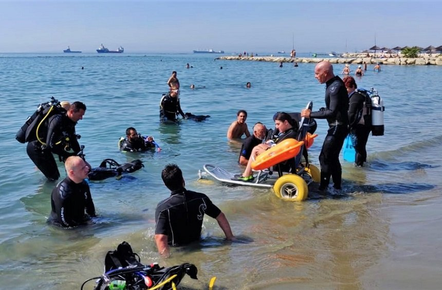 People with disabilities explore the underwater magic of the Limassol sea!