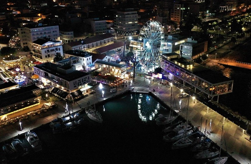 PHOTOS + VIDEO: The bright, sparkly setting at the Old Port marks the start of Christmas in Limassol!