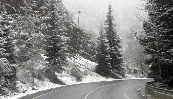 The first snow on Troodos!