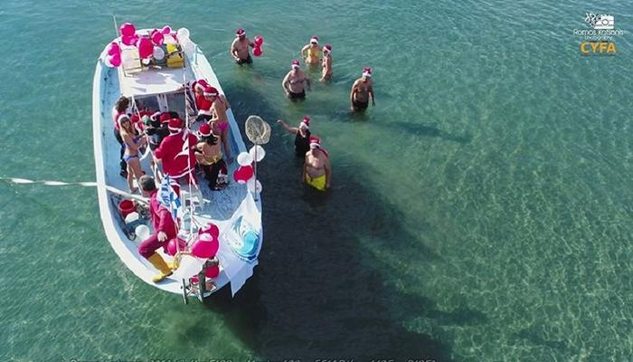 VIDEO: In Limassol Santa Claus came from the sea!