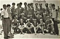 Lifeguards class of 1978. Costas Yiangou sitting in the center of the photo.