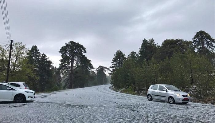 PHOTOS: Indeed, Troodos under a... white siege in the middle of May!