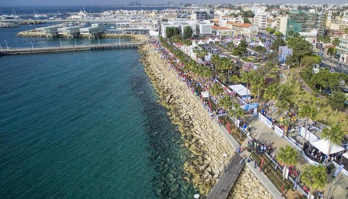 Where and when will the roads be closing for the Limassol Marathon