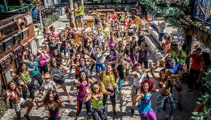 Saturday mornings with free zumba for all at Guaba!