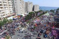 The Enaerios parking lot during the Limassol Carnival 2017.