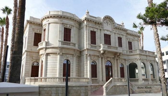 The Limassol Library is ready to have its Christmas lights on!