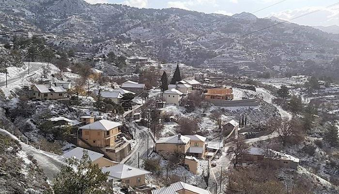 PHOTOS + VIDEO: Plenty of water in the rivers and snow in Limassol's villages!