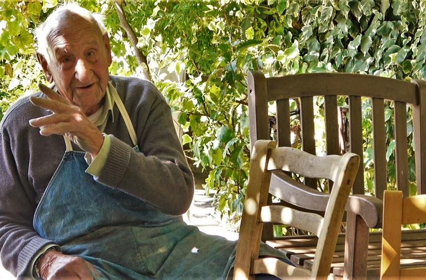 The art of the chair maker: A persistent craftsman carries on his craft as he nears his 100th birthday!