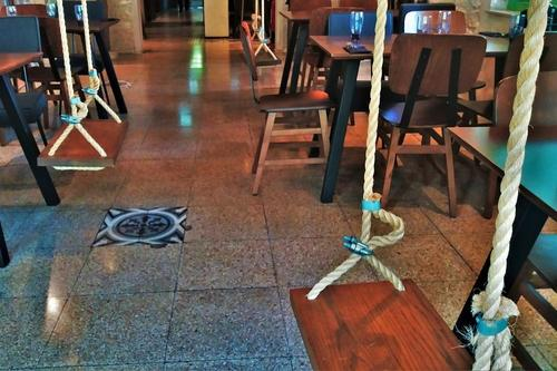 Dionysus Mansion: A restaurant in Limassol with swings in its dinning area!