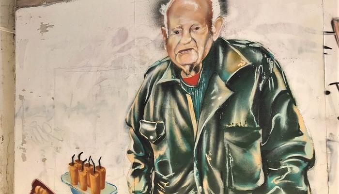 PHOTOS: The 'old man with the orange juce' now has his own mural in Limassol!