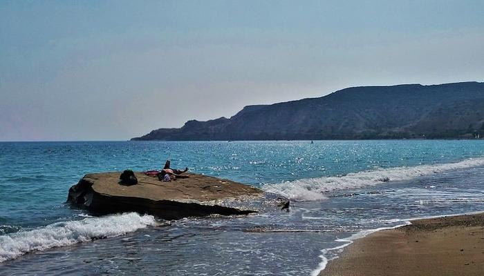 This beach in Limassol is one of the greatest temptations you will come across!