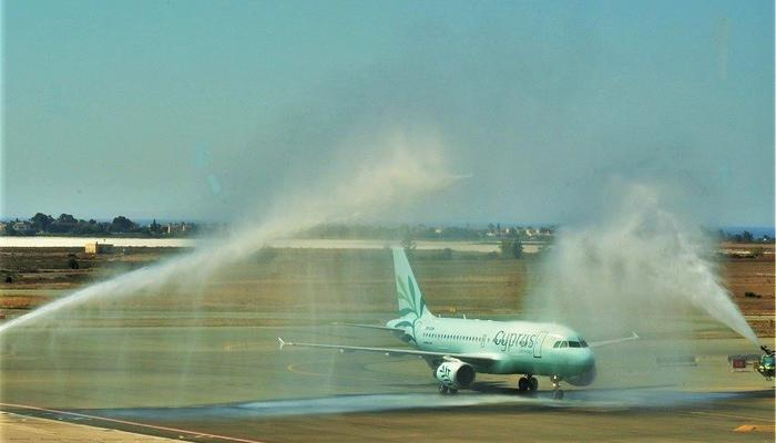 First official landing by Cyprus Airways!