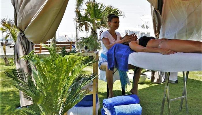 In Limassol, you can enjoy relaxing, reflexology massage, by the sea!
