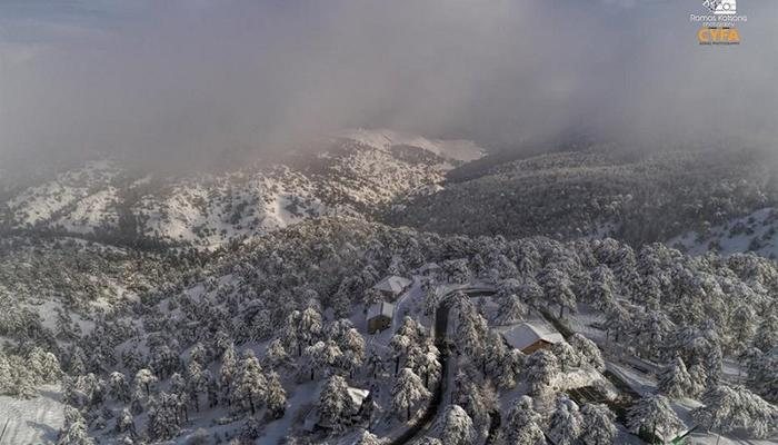 Right after white Christmas in Troodos, we are heading to a white New Year!