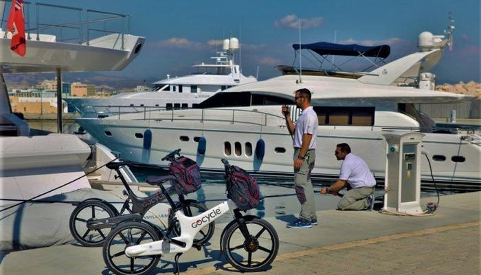 Bicyles by a McLaren designer for the personnel of Limassol Marina