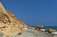 Nudist beach at Pissouri