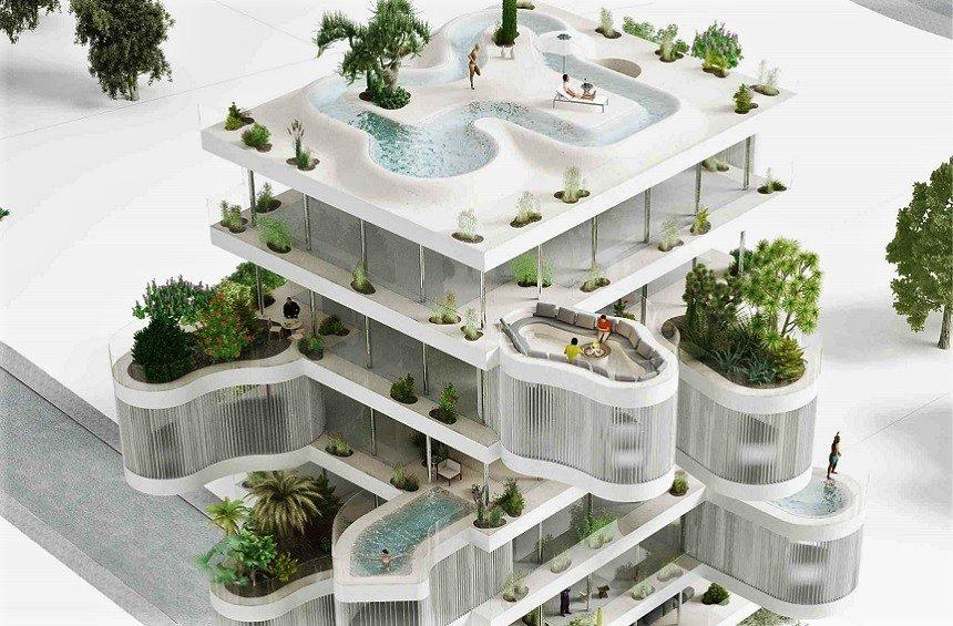 Clelia Tower: A building with 'hanging' gardens, a modern proposal for Limassol!