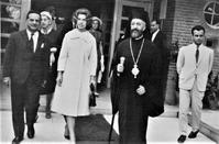 The visit of Princess of Greece, Irene, with Archbishop Makarios