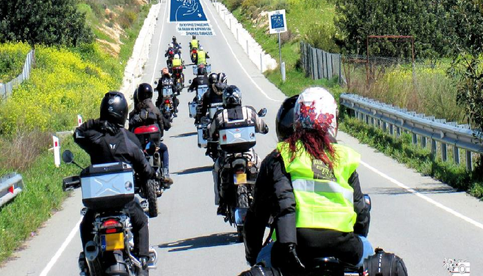 Hundreds of motorcyclists are flooding the streets for a good cause