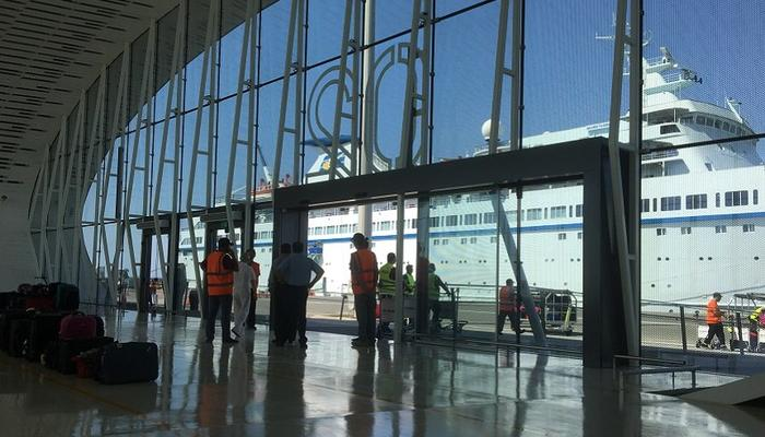 The new, modern passenger hall at the Limassol Port about to open!