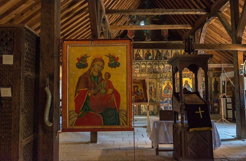 A spacious temple, with remarkable samples of icons and frescoes.