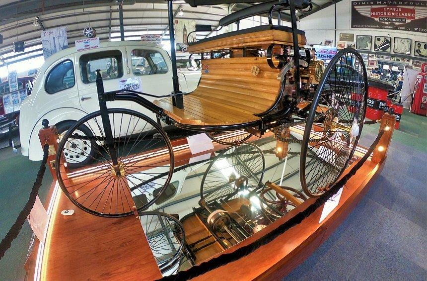 The world's first diesel car from 1886 in Limassol!