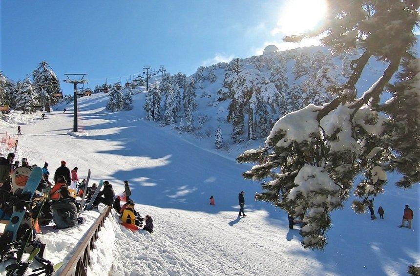 Skiing in Troodos