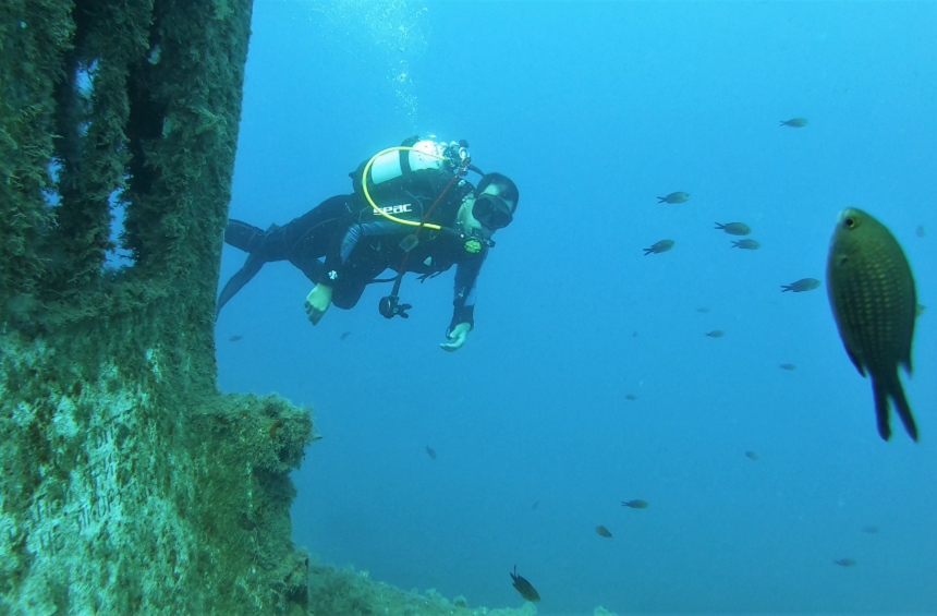 Scuba diving in the Limassol Marine Park
