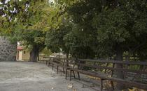 The picturesque square is place to sit, rest and relax.