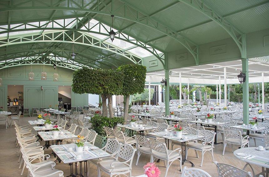 Anthea Restaurant: A dining venue with its own greenhouse area!