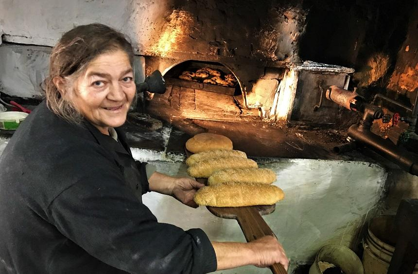 The village is also known for traditional bread-making.