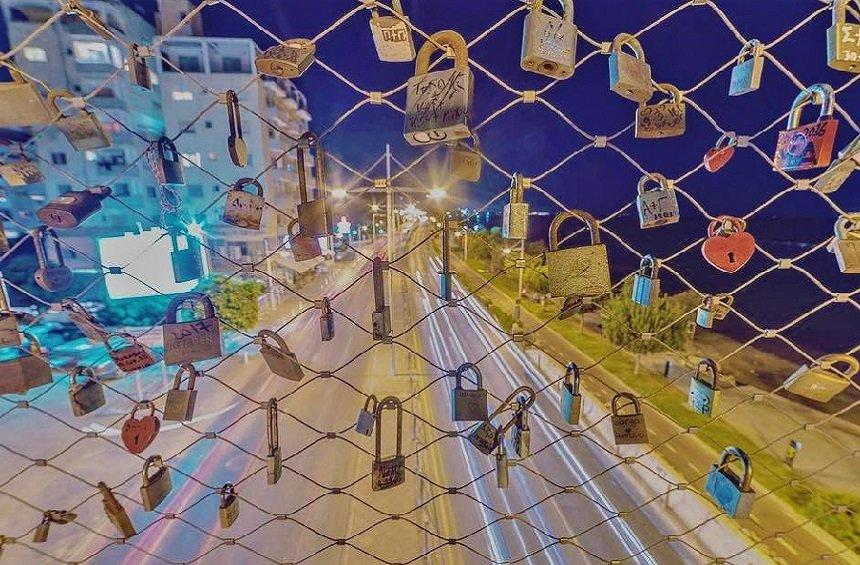 The Limassol bridge with the locks of love!