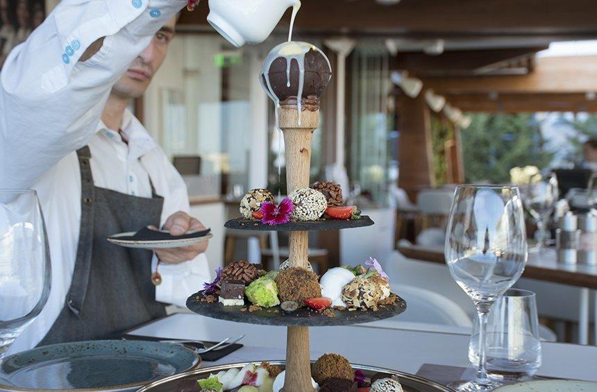 The chocolate tower in Limassol that could even tempt a Saint!
