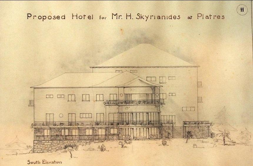 The plans for the construction of the hotel.