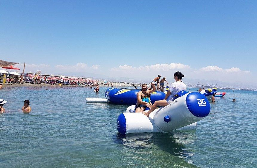 PHOTOS + VIDEOS: An amazing waterpark in the sea, on Limassol's western coast!