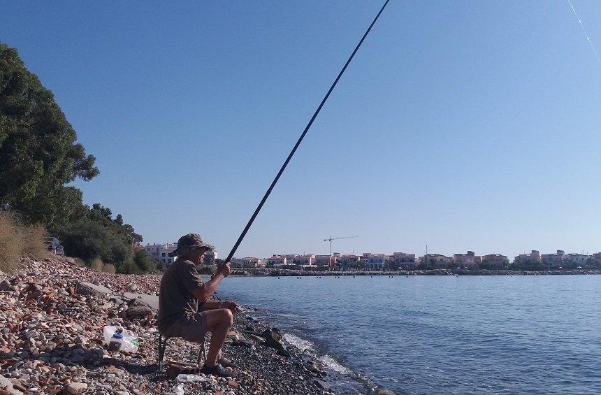 Fishing by the shore