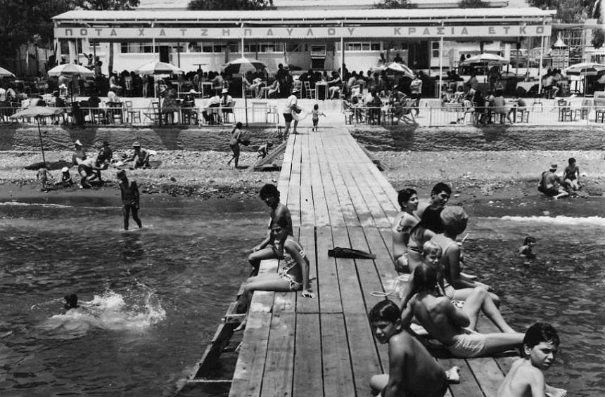 Castella beach in Agios Tychon in the 1960s.