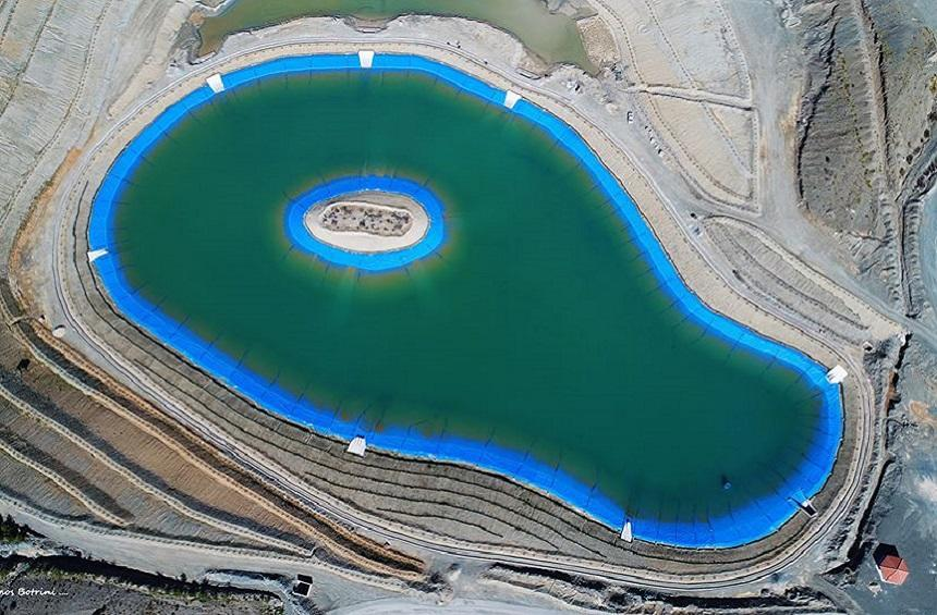 The Artificial Lake of the Asbestos Mine